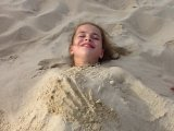 2012, Nicole, Costa Rei, Kinder am Strand